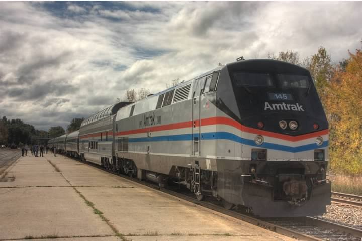 Amtrak's Adirondack at Saratoga Springs, NY.  Lowell Silverman photography, 2011