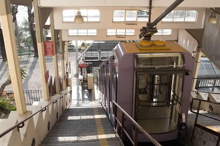Como-Brunate Funicular at the Brunate station