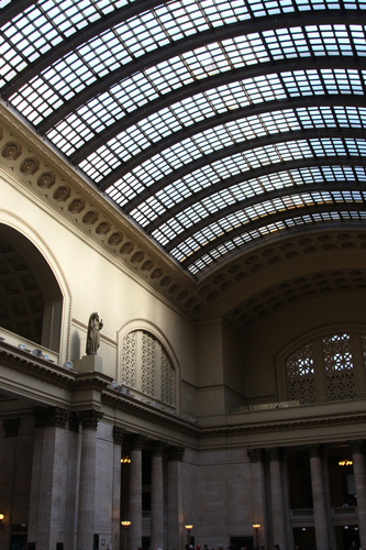 The heart and soul of Chicago Union Station is its massive Great Hall.