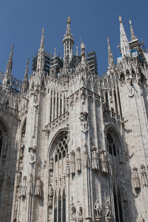 Milano's Duomo is in the middle of an expensive restoration.