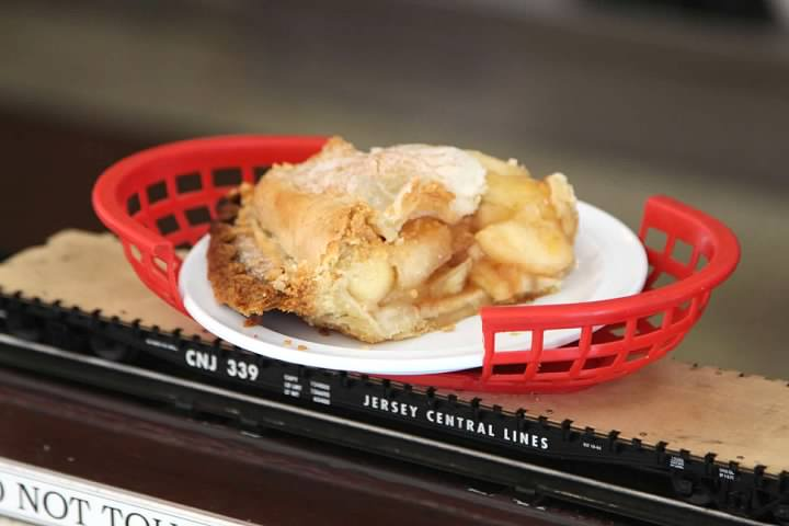 Mmmm, microwave fresh brand-name apple pie delivered on a flat car.   Doesn't get any better than this!