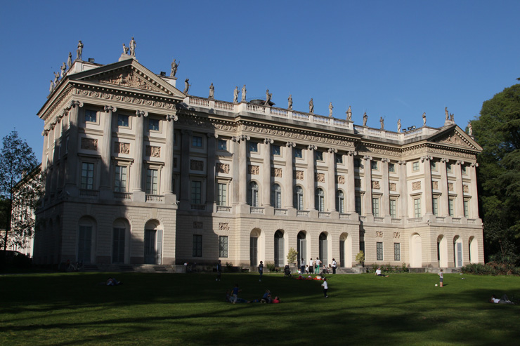 Villa Belgiojoso Bonaparte, across Via Palestro from the Giardini Pubblici