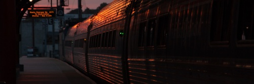 Northeast Regional at Wilmington, DE station.  Lowell Silverman photography, 2012