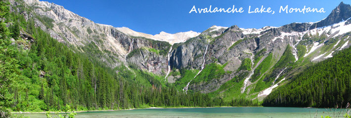 Avalanche Lake Banner