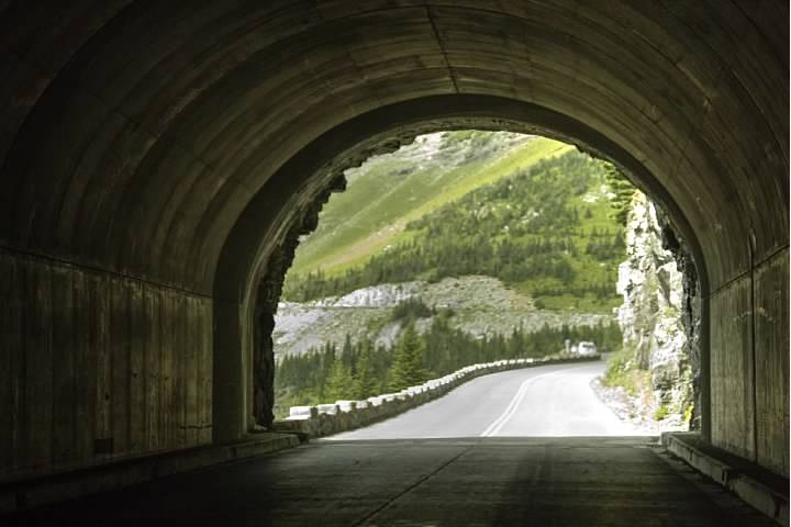East Tunnel, one of two tunnels on the Going-to-the-Sun Road