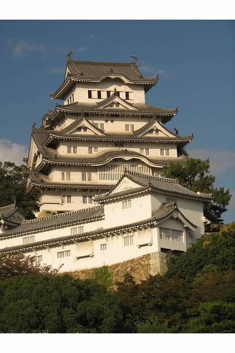 Himeji Castle's keep. Lowell Silverman photography, 2007