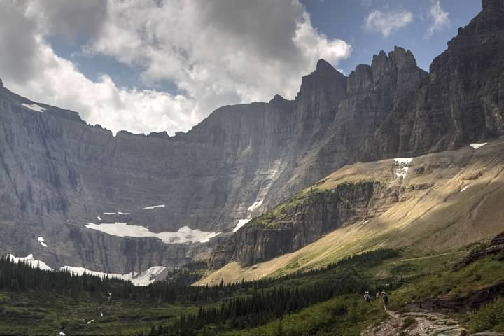 Trail to Iceberg Lake in Glacier National Park