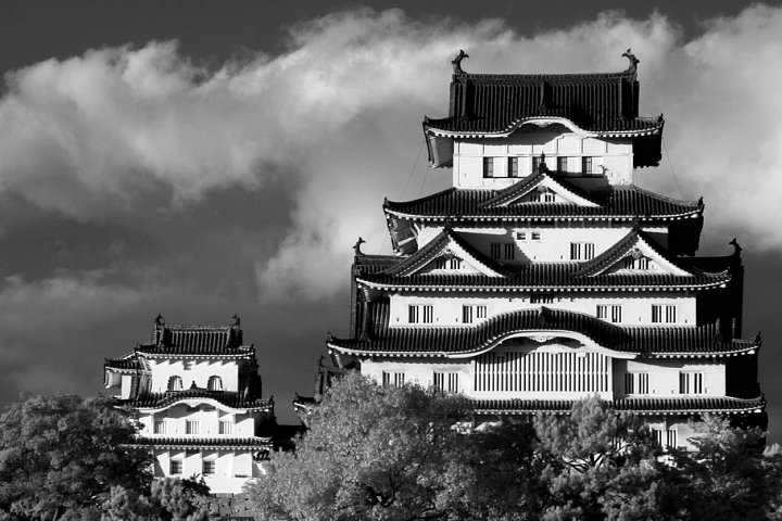 Himeji Castle in infrared