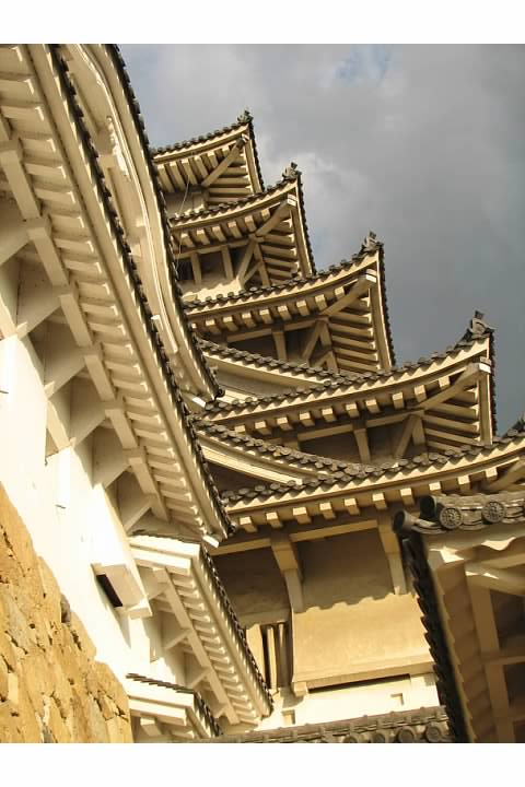 The keep's ornate gables are a big part of what makes Himeji Castle so much more beautiful than most European castles