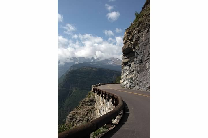 A bend in the Going-to-the-Sun Road in Glacier National Park.  Lowell Silverman photography, 2014