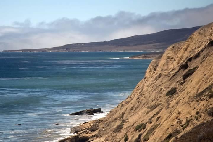 California coast near Espada Bluff