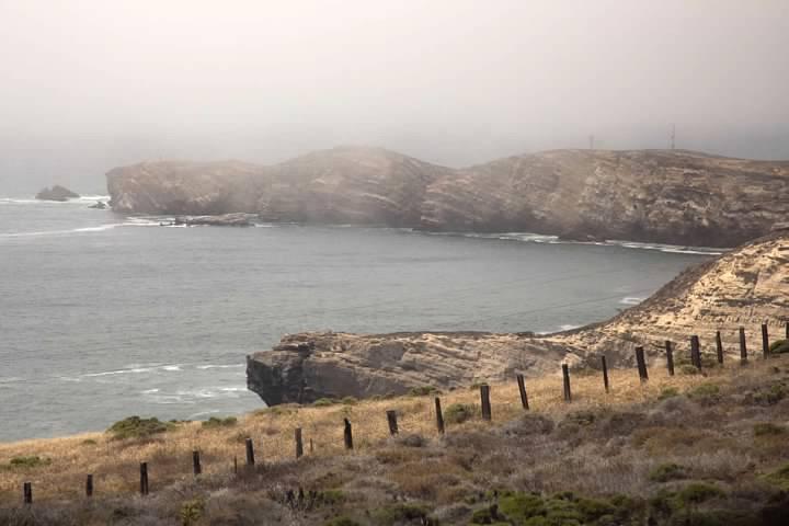 Foggy coast southwest of Lompoc