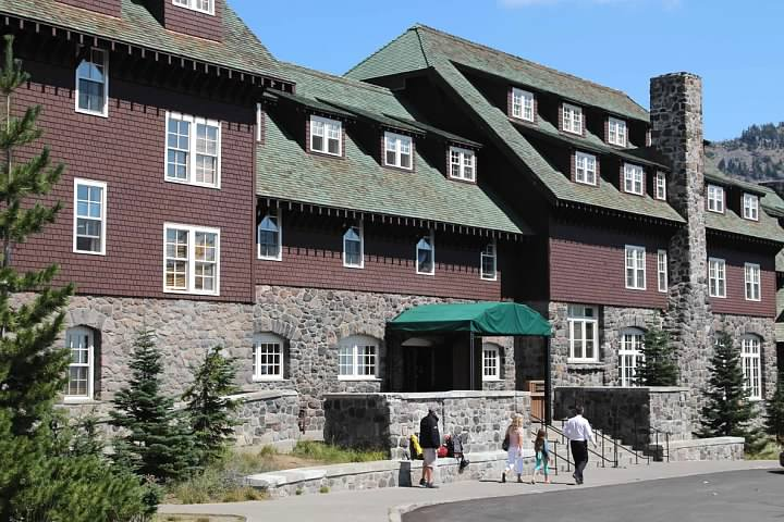 The Crater Lake Lodge opened in 1915 and is the only hotel within the park