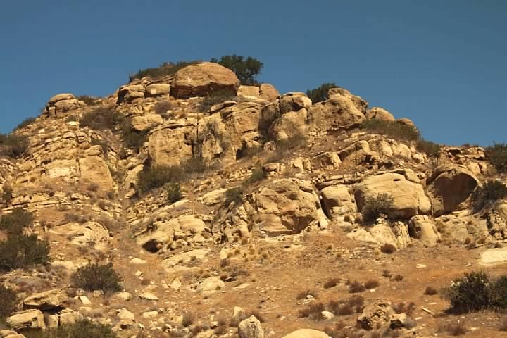 Rugged terrain just outside LA