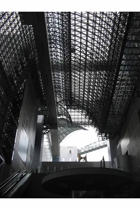 Kyoto Train Station has an amazing interior