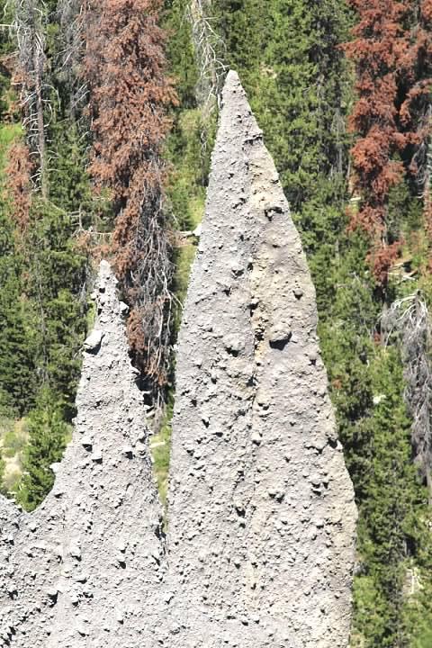 Close-up of the Pinnacles