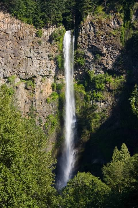 Multnomah Falls was bathed in bright sunshine during a previous visit
