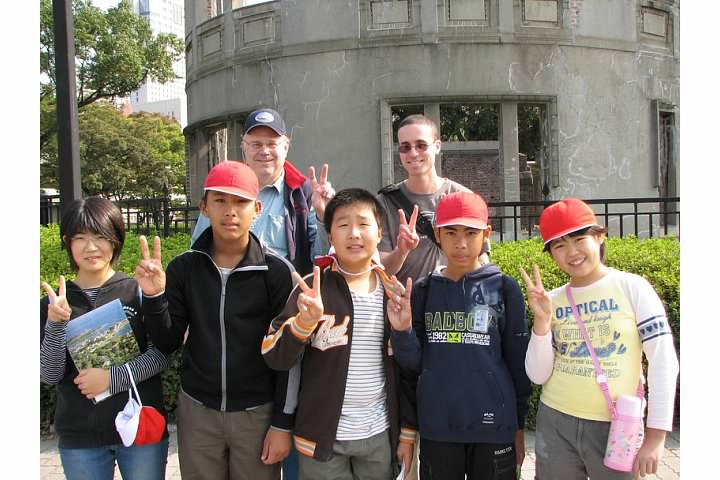 Friendly school group in Hiroshima