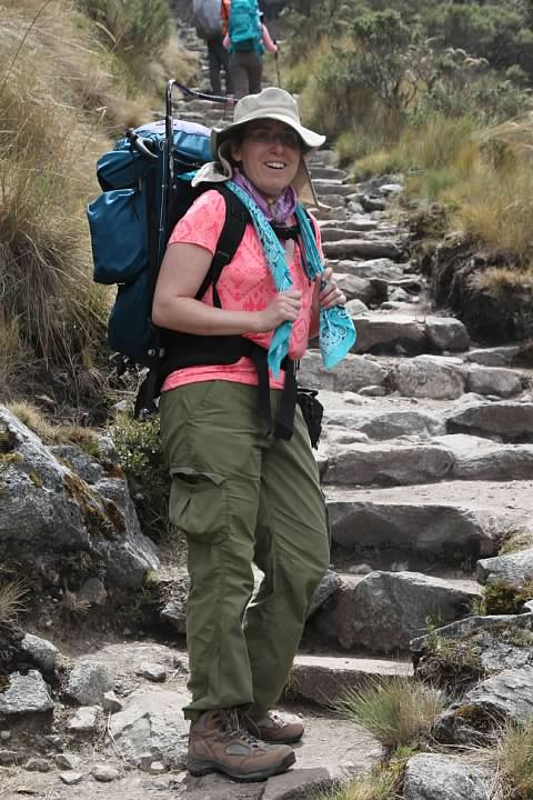 I got passed. Rachel joked that people were going to think the Inca Trail was nothing but fun since we instinctively smiled for the camera
