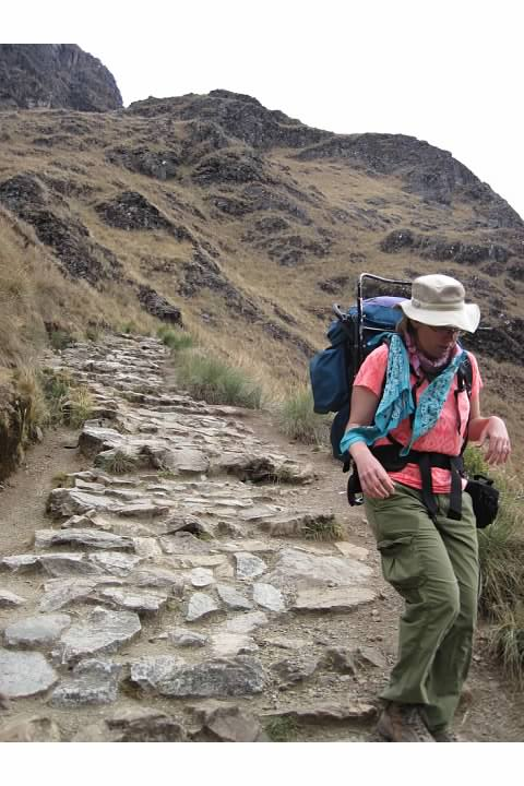 Slow going on the Incan steps