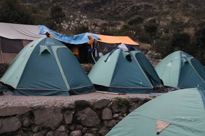Tents at Pacamayo