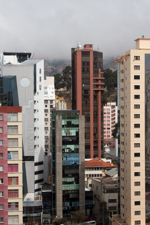 High rises of La Paz seen from the Stannum