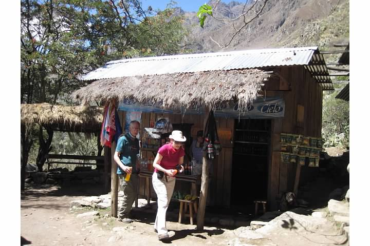 Store at settlement along the Inca Trail