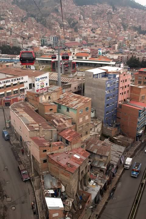 An impoverished area of La Paz