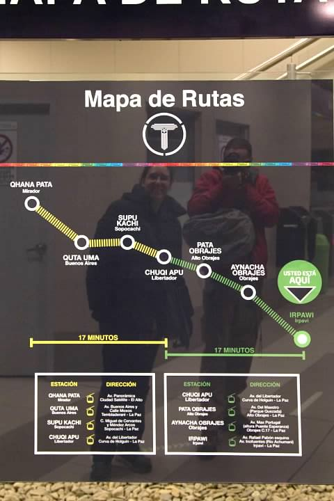 Map of the Yellow and Green Lines