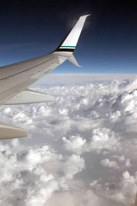 Clouds seen while flying along the Kansas-Nebraska border