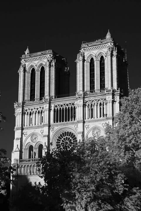 La cathédrale Notre-Dame de Paris (infrared)
