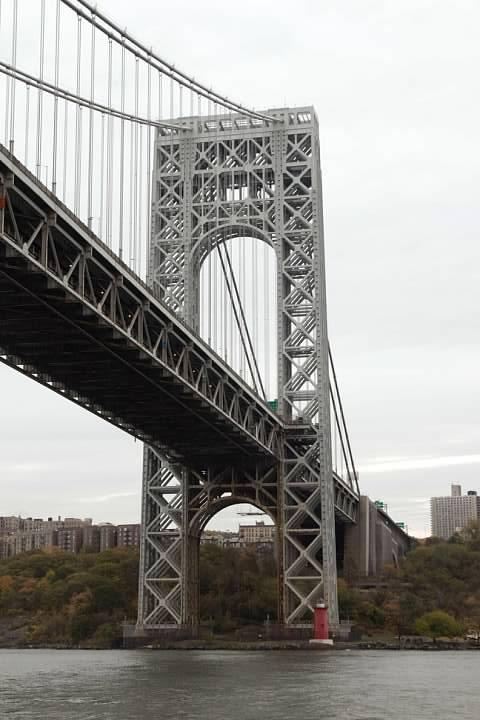 George Washington Bridge and Jeffrey's Hook Light