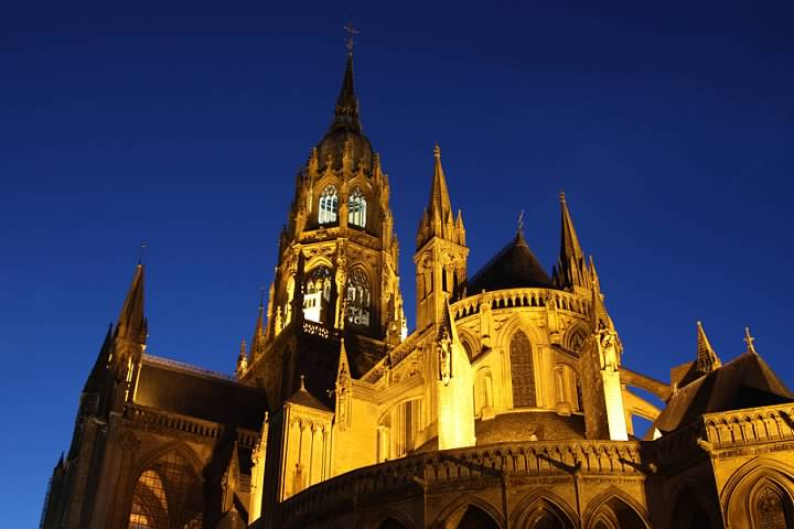 Bayeux Cathedral Blue Hour