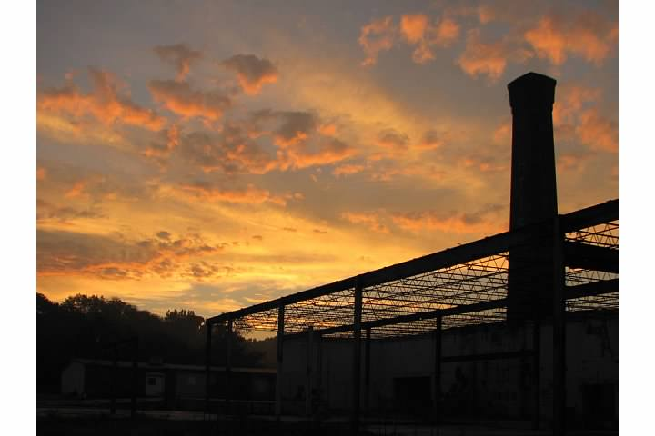 Sunset at Curtis Paper Mill, September 2006