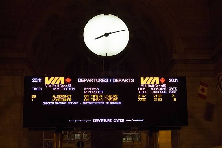 Union Station Departure Board